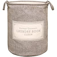 ラウンドランドリーバスケットコットンバーラップポータブル汚れたハンパーの家庭用衣類雑貨ストレージバスケット (色 : A, サイズ さいず : 43 * 53cm)