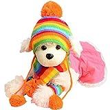 (ラブイン ファミリー)Loving family ペット 犬帽子 マフラー 足カバー3点セット (XS)