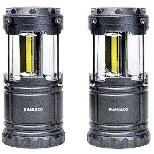 Raniaco LEDランタン 明るい 携帯型 折り畳み式 ポータブル テントライト 防水仕様 防災対策 登山 夜釣り ハイキング アウトドア キャンプ用 2個セット (2個セット)