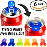 Beverage Barricade Soda Protector 6 Pack for Active Families. Improve Your Picnic or BBQ Experience: Shield Your Cans From Bu