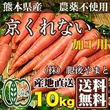 【ジュース 加工用】京くれない人参 10kg 有機JAS (熊本県 (株)肥後やまと) 産地直送
