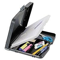 """Officemate 83610リサイクルプラスチックフォームホルダー、1/ 2""""容量、Holds文字とa4サイズ、チャコール"""
