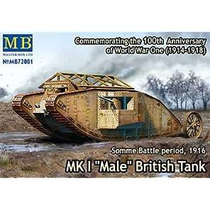 マスターボックス 1/72 イギリス マークI型菱形戦車-雄型 57mm砲搭載 MB72001