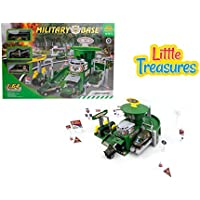 Little Treasuresおもちゃ、Military Base Toy Set for Little Military Enthusiasts