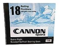 Cannonスポーツ18位置野球/ソフトボールScorebook withピッチカウントスコアリング