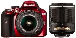 Nikon デジタル一眼レフカメラ D3300 ダブルズームキット2 レッド