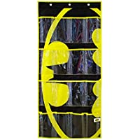 (Batman Hanging Shoe Organiser) - Everything Mary DC Comics Batman Shoe Organiser 16-Pocket Hanging Shoe Organiser for Closet and Bedroom Storage DC Comics Over the Door Shoe Organiser for Children, Kids Toys