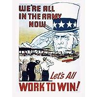 War WWII USA Uncle Sam Salutes Workers Victory Advert Extra Large XL Wall Art Poster Print 戦争第二次世界大戦アメリカ合衆国叔父作業勝利広告壁ポスター印刷