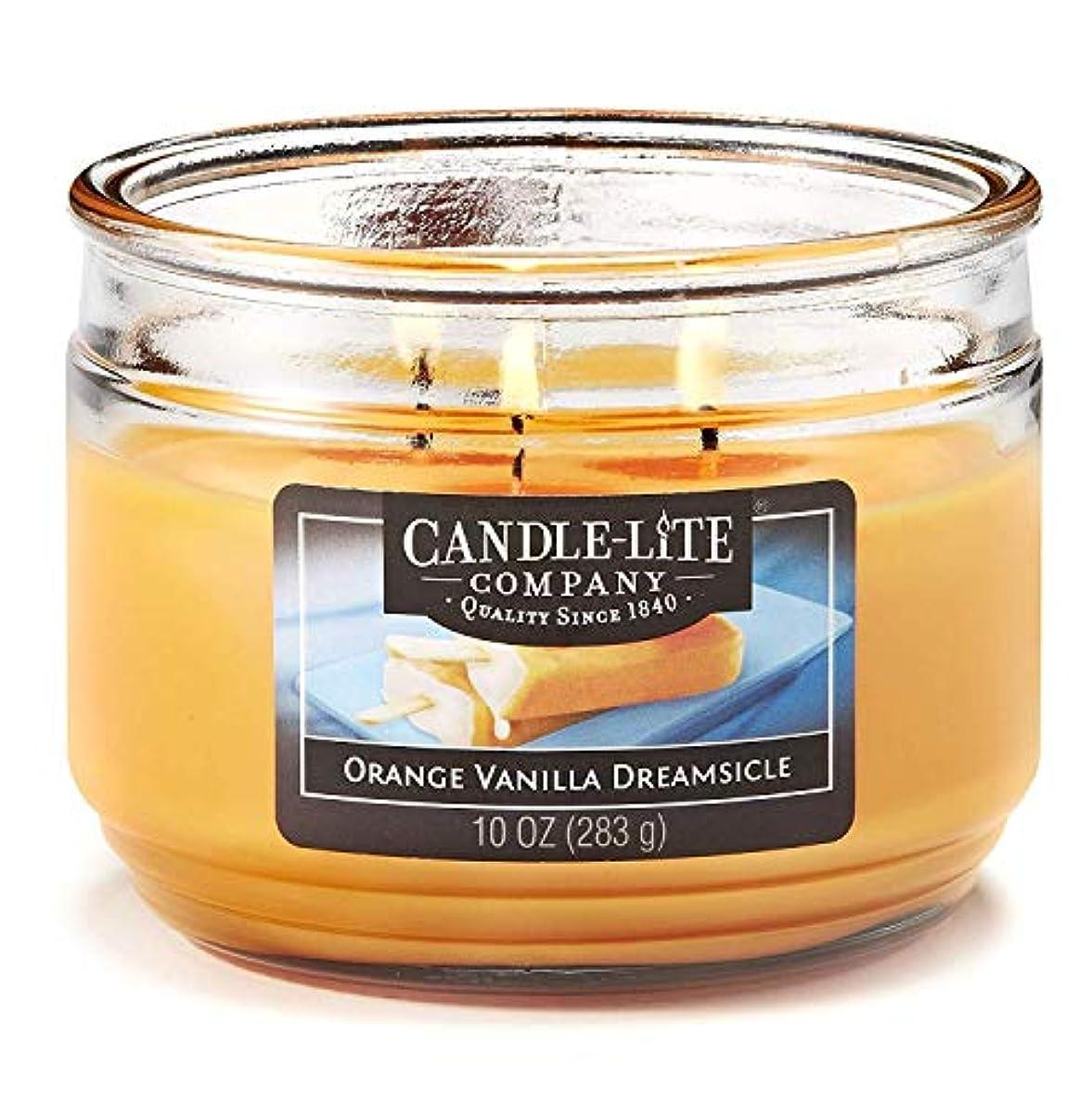 美容師花弁フリル処置 ライトオレンジバニラ香りのキャンドルデイリーグリーンキャンドル