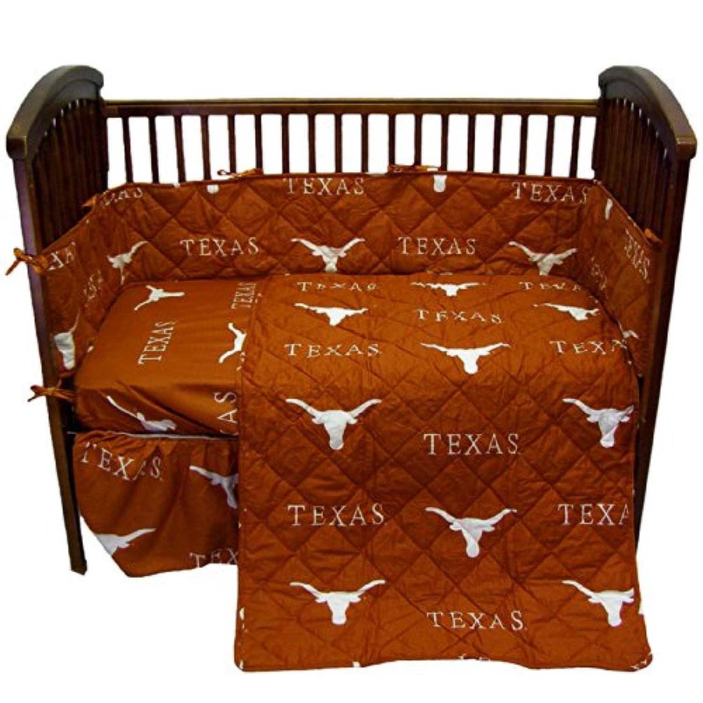 College Covers Texas Longhorns 5ピースベビーベッドセット