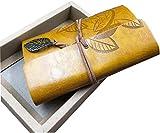 veeppoヴィンテージクラシックPUレザーカバーLoose Leaf空白ノートブックジャーナル日記ギフト90シート( 180pages )地中海スタイルノートブック1510cm ( Deepイエロ