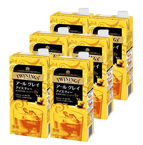 トワイニング リキッドティー アールグレイ 無糖 1L ×6本
