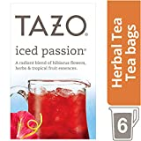 TAZO Passion アイスパッションカフェインフリーティー 6大袋 (約48杯分) 並行輸入品