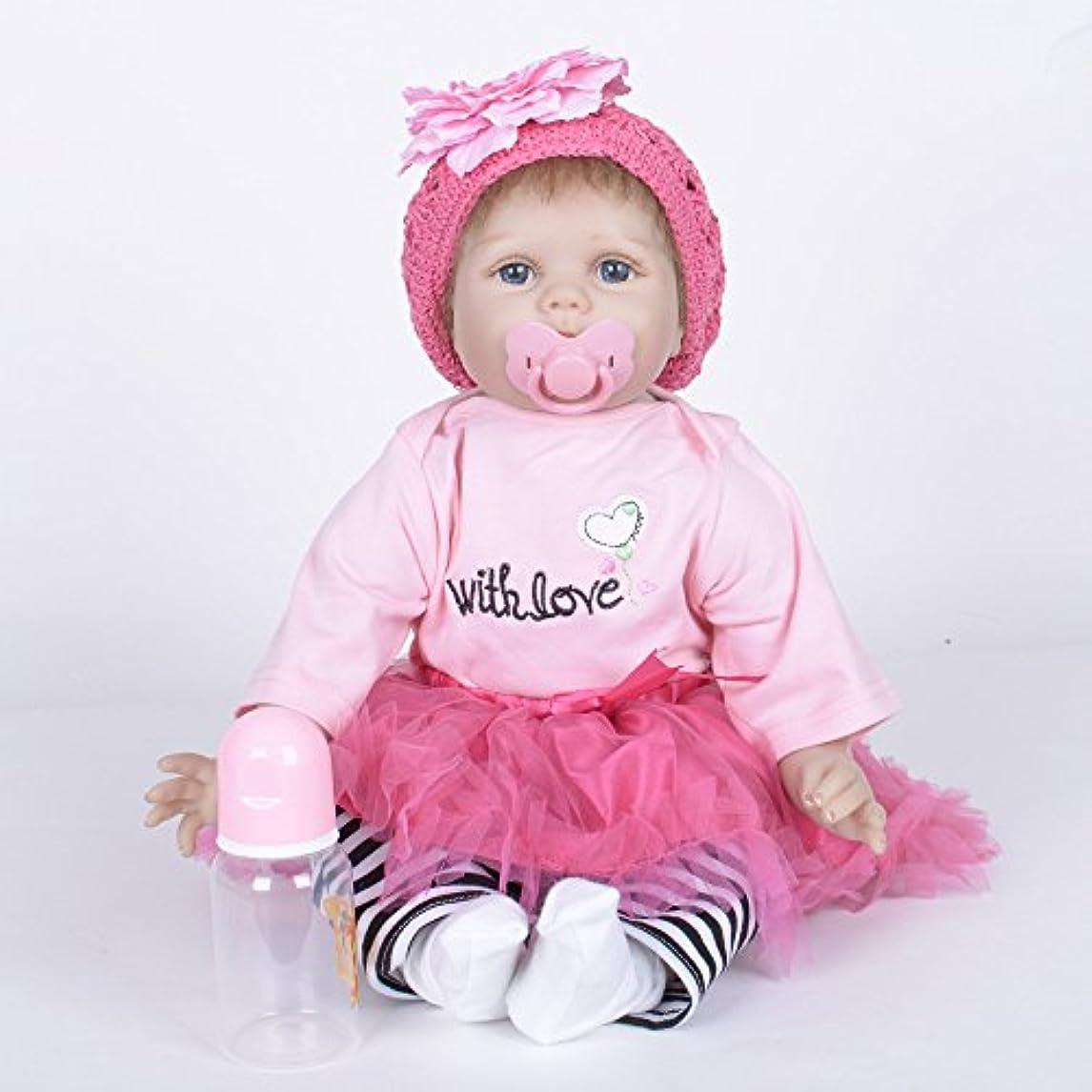報いる服を片付ける暖かくPKJOkmjko シミュレーション人形全シリカゲル赤ちゃん幼児教育迫真の女の子の人形人形55センチ迫真再生玩具人形姫児童玩具子どもの誕生日プレゼント