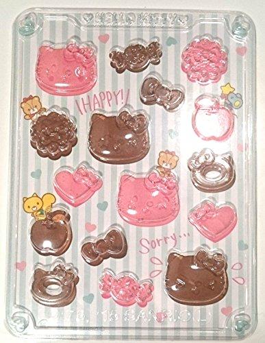サンリハローキティデコミニチョコ型『キャラ弁作りや手作りチョコの型抜きに』