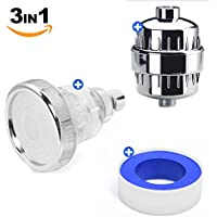 3 Mode Filtered Shower Head & 8-Stage Shower Water Filter Universal Premium Kit - Increase Water Pressure Dramatically, Helps Saving Water, Remove Chlorine, Purify Water - Enjoy Radiant Skin & Hair