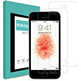 【2枚セット】 Nimaso iPhone SE/5S/5/5C 用 強化ガラス液晶保護フィルム 全面保護/3D Touch対応/硬度9H/高透過率