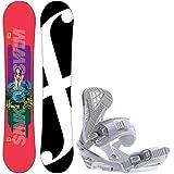 フォーラムSpinster 148レディーススノーボード+ Sapient ZetaバインディングFits US WmsブーツSized : 6,7,8,9,10
