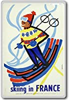 Skiing In France, Europe - Vintage Travel Fridge Magnet - ?????????