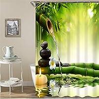 シャワーカーテン 間仕切り 防水 軽量 12個のフック付き (Color : 2, Size : 180*180CM)