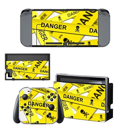 任天堂スイッチ 立ち入り禁止 Danger デンジャー 本体用 + コントローラー用 オリジナルステッカー セット 24 [並行輸入品]