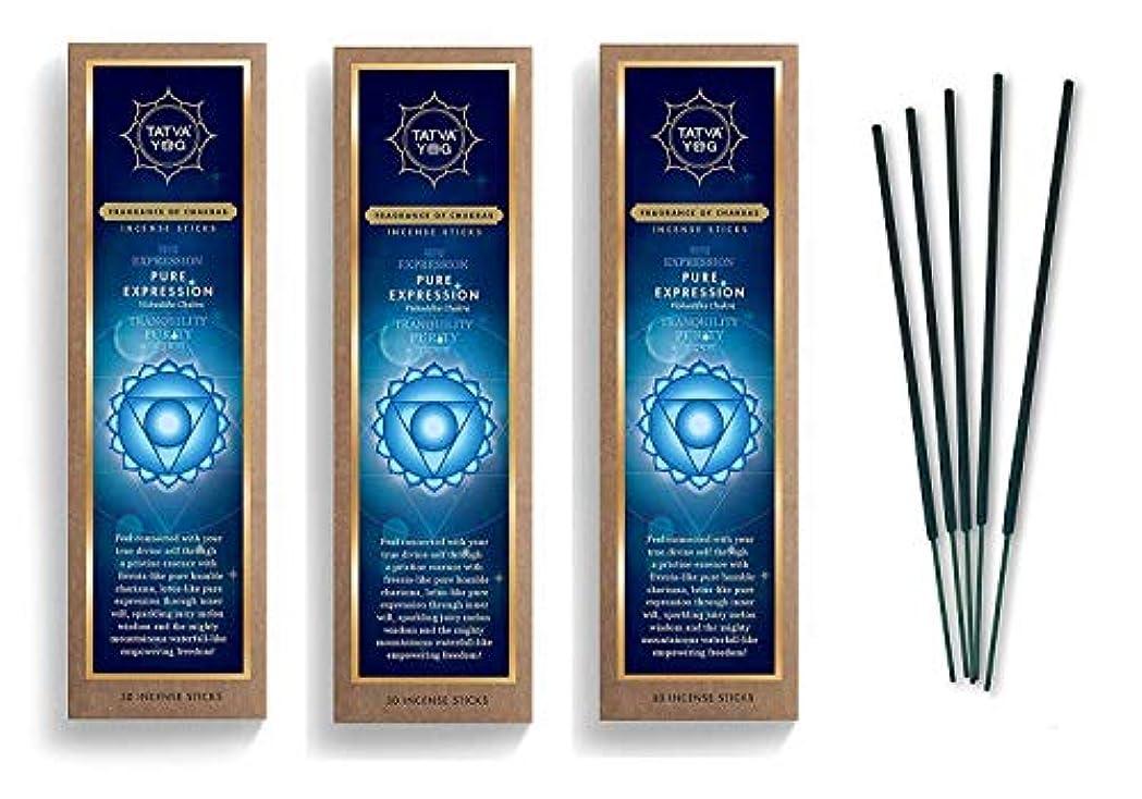 マーチャンダイザー故国舞い上がるPure Expression Long Lasting Incense Sticks for Daily Pooja|Festive|Home|Scented Natural Agarbatti for Positive Energy|Good Health & Wealth (Pack of 3 | 30 Sticks Per Pack)