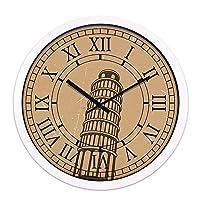 Lts ウォールクロックノンチックナンバークォーツウォールクロックリビングルーム装飾屋内時計ベッドルームクロックキッチンクロックホテルのフロントデスクホールレトロウォールクロックホームクォーツミュートウォールクロック (Color : E, サイズ : 14 In)