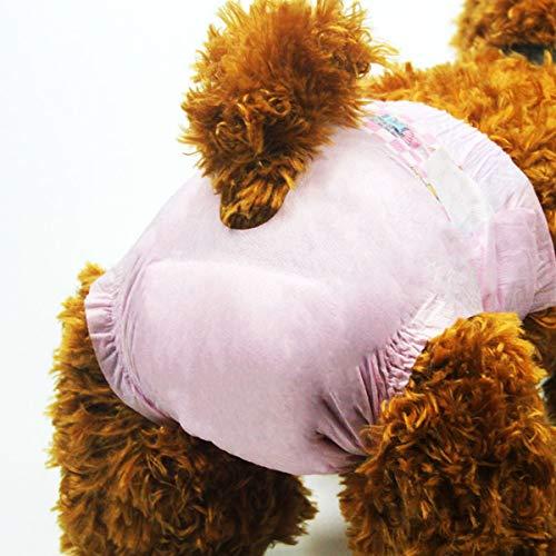 犬紙おむつ女の子 メスペット用オムツ ピンク 可愛い紙オムツ...