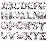 【Poimi-R】アルファベット バルーン シルバー サイズ約40cm 文字 風船 誕生日 イベント サプライズ 装飾に (シルバー:R)