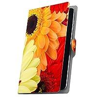 タブレット 手帳型 タブレットケース タブレットカバー カバー レザー ケース 手帳タイプ フリップ ダイアリー 二つ折り 革 花 ガーベラ 000990 Fire HDX Amazon アマゾン Kindle Fire キンドルファイア FireHDX firehdx-000990-tb