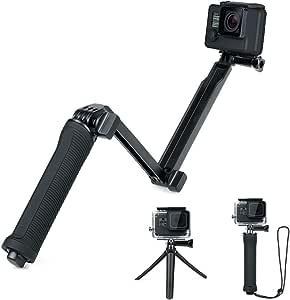 Yueetc GoPro 3Way 自撮り棒 防水 Gopro hero7/hero6/hero5/muson 対応自撮り棒 カメラ アクセサリー ゴープロ アクセサリー ブラック