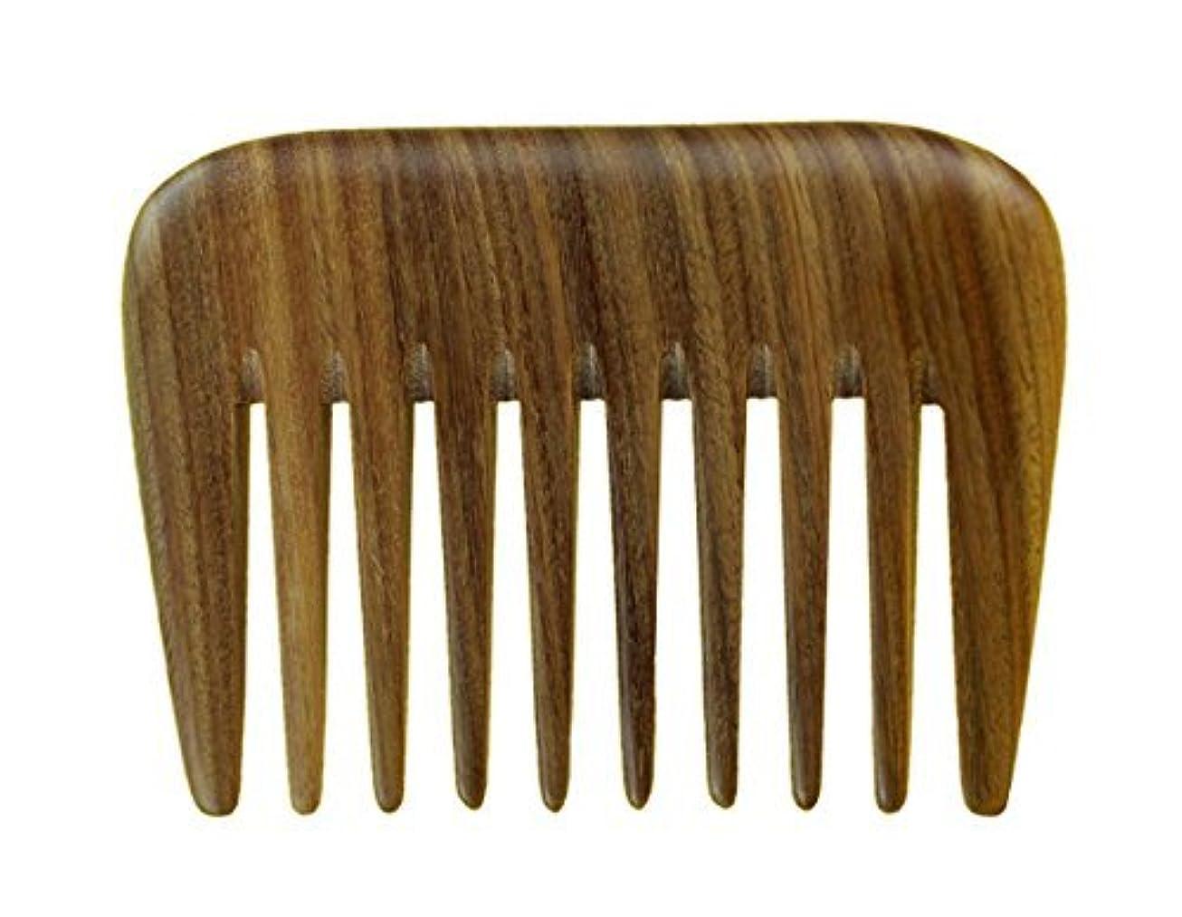 敬の念版発言するMeta-C Portable Hair/Beard Comb/Pick ? Made Of One Whole Piece Of Natural Green Sandal Wood With Fragrant Scent...