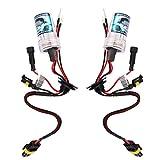 【ノーブランド品】H8 H9 H11用 キセノン 車用 HID 交換用 電球 8000K 55W 12V ヘッドライト ランプ 電球