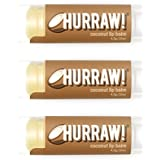 HURRAW Coconut (3 Pack) Lip Balm: Organic, Certified Vegan, Certified Cruelty Free, Non-GMO, Gluten Free, All Natural - Luxury Lip Balm Made in the USA - COCONUT (3 Pack)