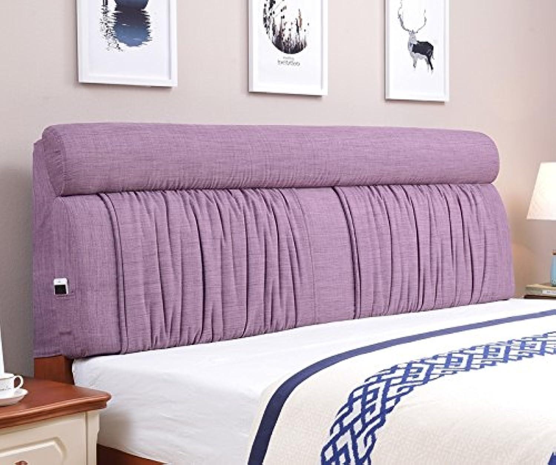 Vercart ヘッドボード ヘッドガード クッション 新生活 洗えるカバー ベッド オシャレ 背もたれ 紫 幅120cm 高さ60cm 奥行き12cm