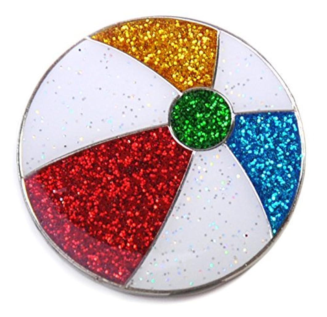 反論者放棄するアボートNavika Glitzyビーチボールボールマーカーwith磁気帽子クリップ