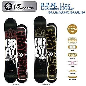 15-16 GRAY グレイスノーボード R.P.M Lion (136)
