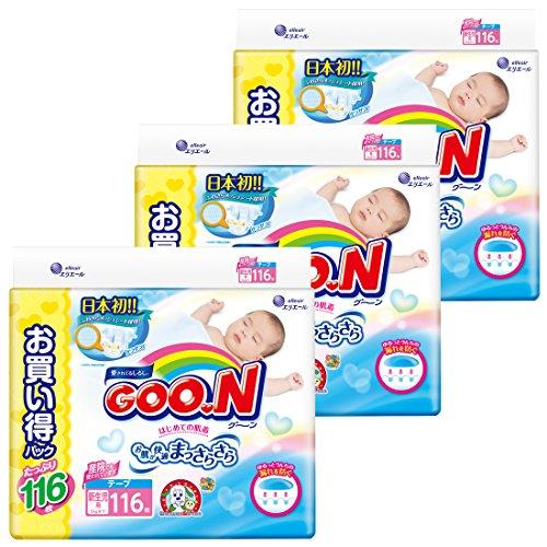 『グーン テープ 新生児 (お誕生~5kg) 348枚(116枚×3) まっさらさら通気 【ケース販売】』の8枚目の画像
