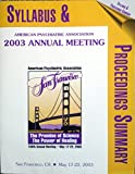 2003 Annual Meeting Syllabus