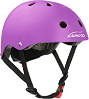 KAMUGO Kids Helmet,Toddler Helmet Adjustable Kids Helmet CPSC Certified Ages 3-8 Years Old Boys Girls Multi- Sports Safety Cy