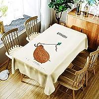 テーブルクロス、3Dテーブルクロスかわいいクリスマスパターン防水布厚い四角い子供のテーブルクロス家庭用テキスタイル複数のサイズ (色 : C, サイズ : 150*300)