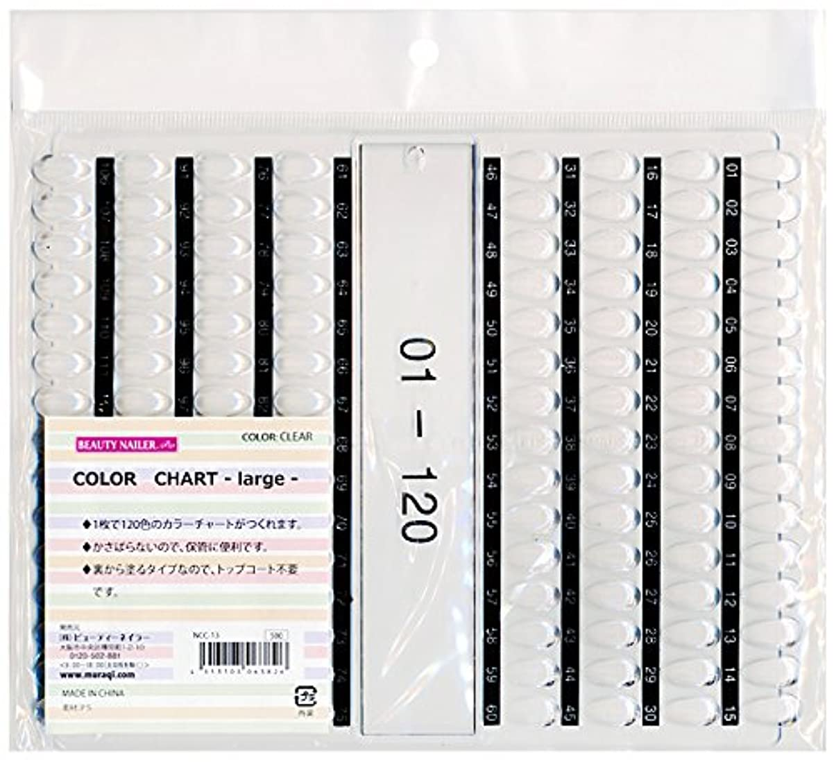 堤防もっと規模カラーチャート ラージ(NCC-13)