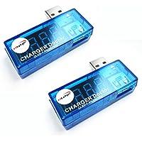 HiLetgo® 2個セット 電流検電機 USB 電源 アンプ メーター テスター 充電 モニタ 電圧 電流 マルチ USB電圧電流チェッカー [並行輸入品]