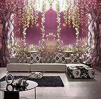 Wkxzz カスタム写真壁紙花つる木壁紙ロールミニマリスト現代3D壁画壁紙-250X175Cm