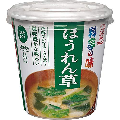 マルコメ カップ料亭の味 ほうれん草 即席味噌汁 1食×6個セット