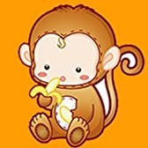 カラービーズ ストーン画 十二支 猿 DIY