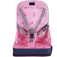 Lalawow お食事クッション 防水チェアクッション 折りたたみ こどもクッション 椅子クッション 赤ちゃん用 キッズ用 ベビー用 ポーチ付き (ピンク)