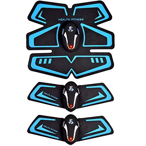 KOOSERA EMS 腹筋ベルト 腹筋器具 腹筋トレーニング 腹筋トレ ダイエット フィットネスマシン お腹 腕 男女兼用 9段階調節 6モード 最新版 (ブルー)
