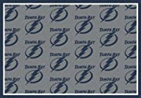 Tampa Bay Lightning NHL Team Repeat Area Rug by Milliken 3'10 by 5'4 [並行輸入品]