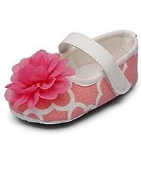Chiximaxu ベビーシューズ フラワー 飾り 赤ちゃん 出産 お祝い 可愛い 女の子 靴